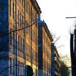 Улица Ломоносова в закатном солнце