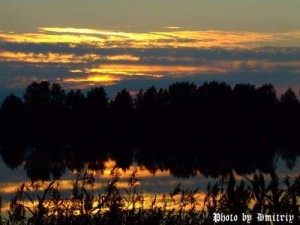 Вечер, озеро Северодвинска