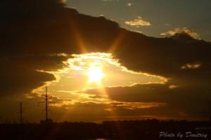 Утка в облаках - ночной Северодвинск