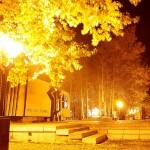 Вечный огонь - ночной Северодвинск