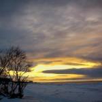 Небо над морем. Зима