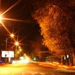 Ночной Северодвинск (ул. Карла Маркса / ул. Гагарина)