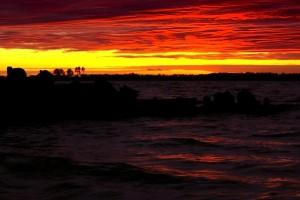 Закат - ночной Северодвинск