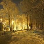 Зимняя тропа - ночной Северодвинск