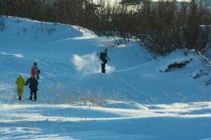 Сноуборд на дюнах Ягринского бора