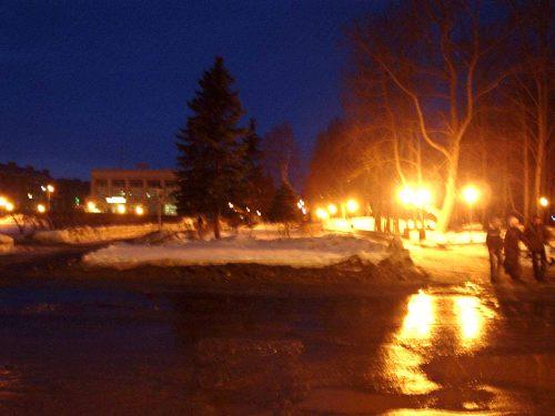 Вечений парк у мэрии - Зима 2005