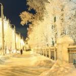 ул. Ломоносова - ночной северодвинск