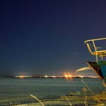 ночной Северодвинск, вид с р.Ягорки