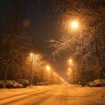 Снегопад на улице Дзержинского