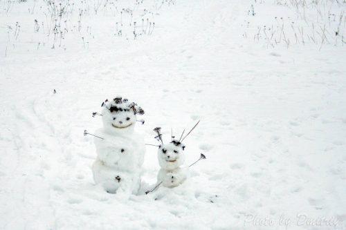 Снеговики на Приморском бульваре