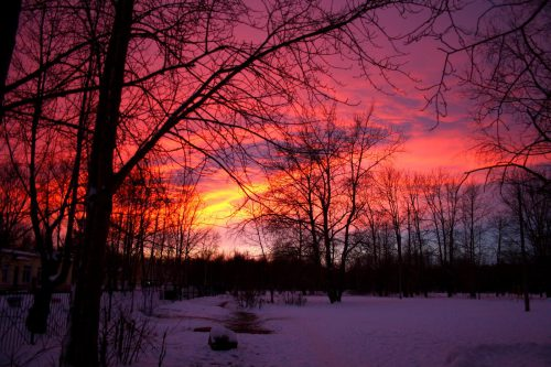 Суровый зимний закат