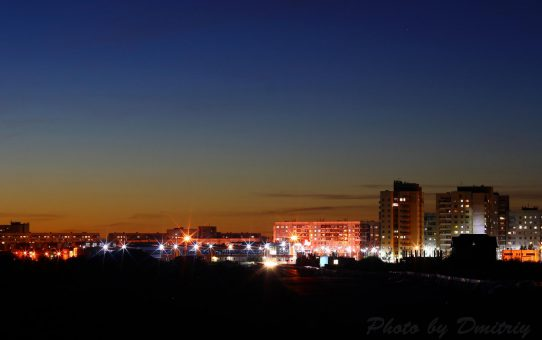 Ночной проспект Победы