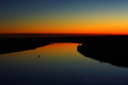 Закат над речкой Кудьма